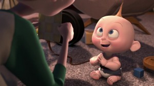 pixar disney jack-jack parr incredibles indestructible baby-sitting personnage character