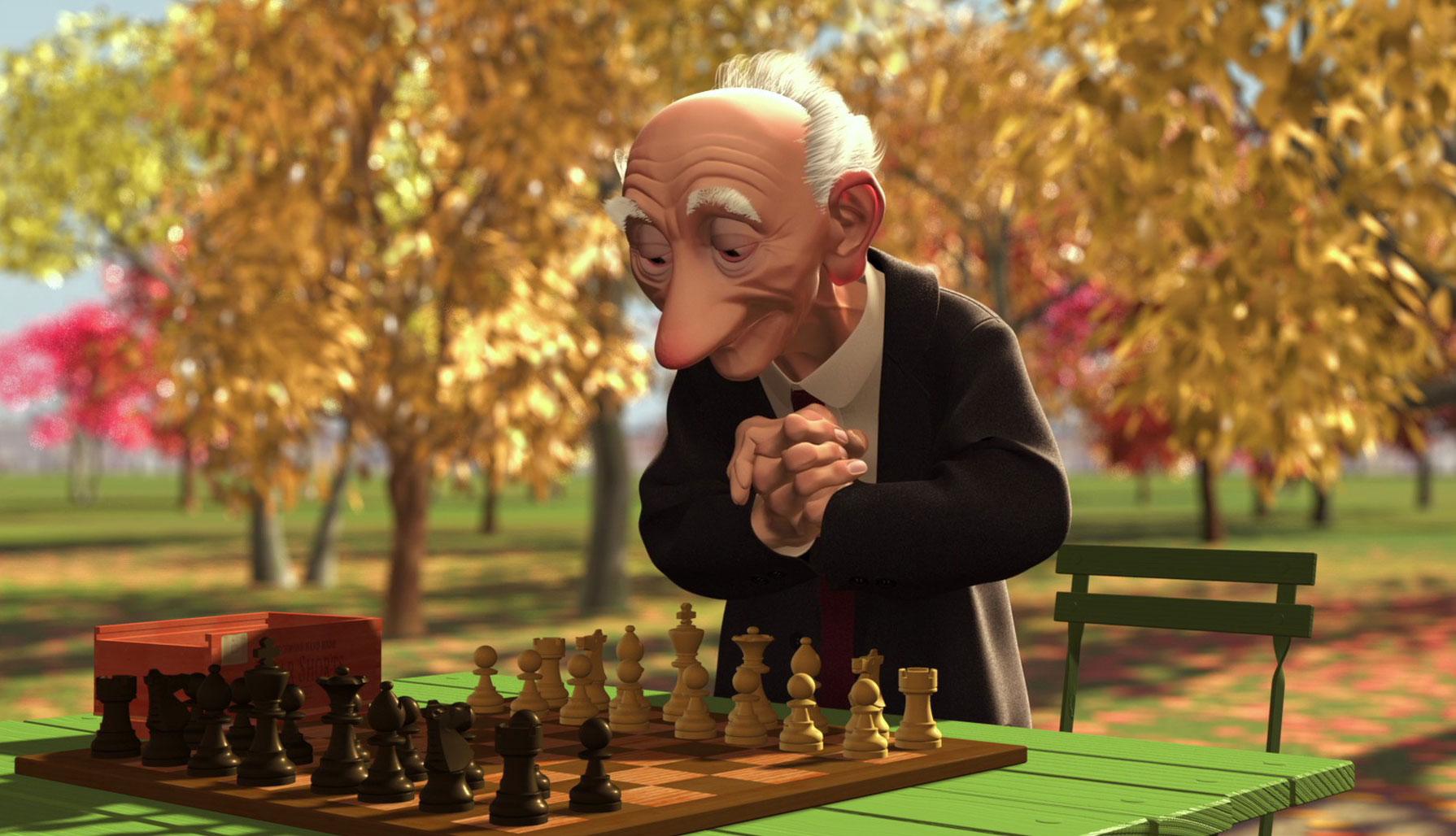 image joueur échec geri game disney pixar