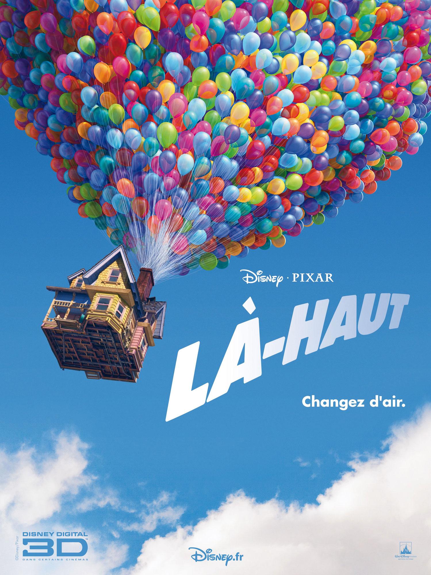 affiche poster là-haut up disney pixar