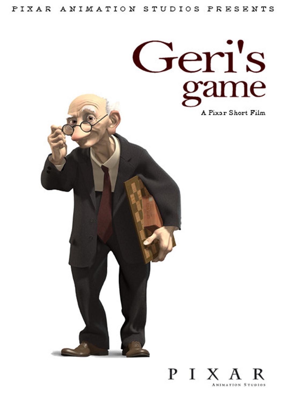 affiche poster joueur échec geri game disney pixar