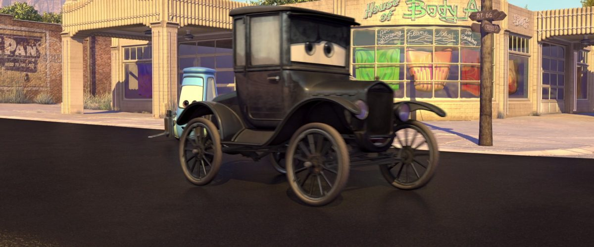 lizzie personnage character cars disney pixar