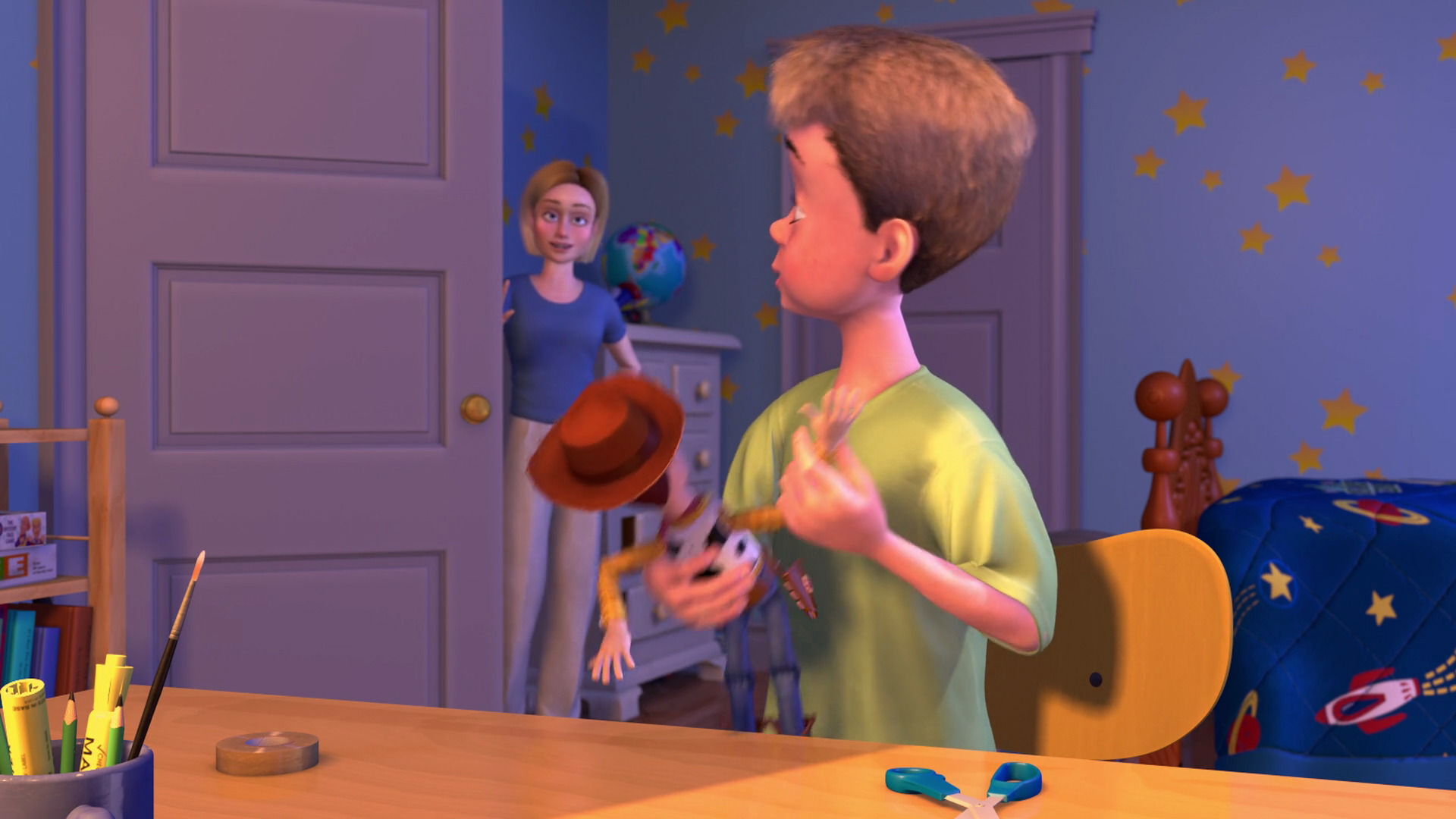 Cowboy Bedroom Mrs Davis Character From Toy Story Pixar Planet Fr