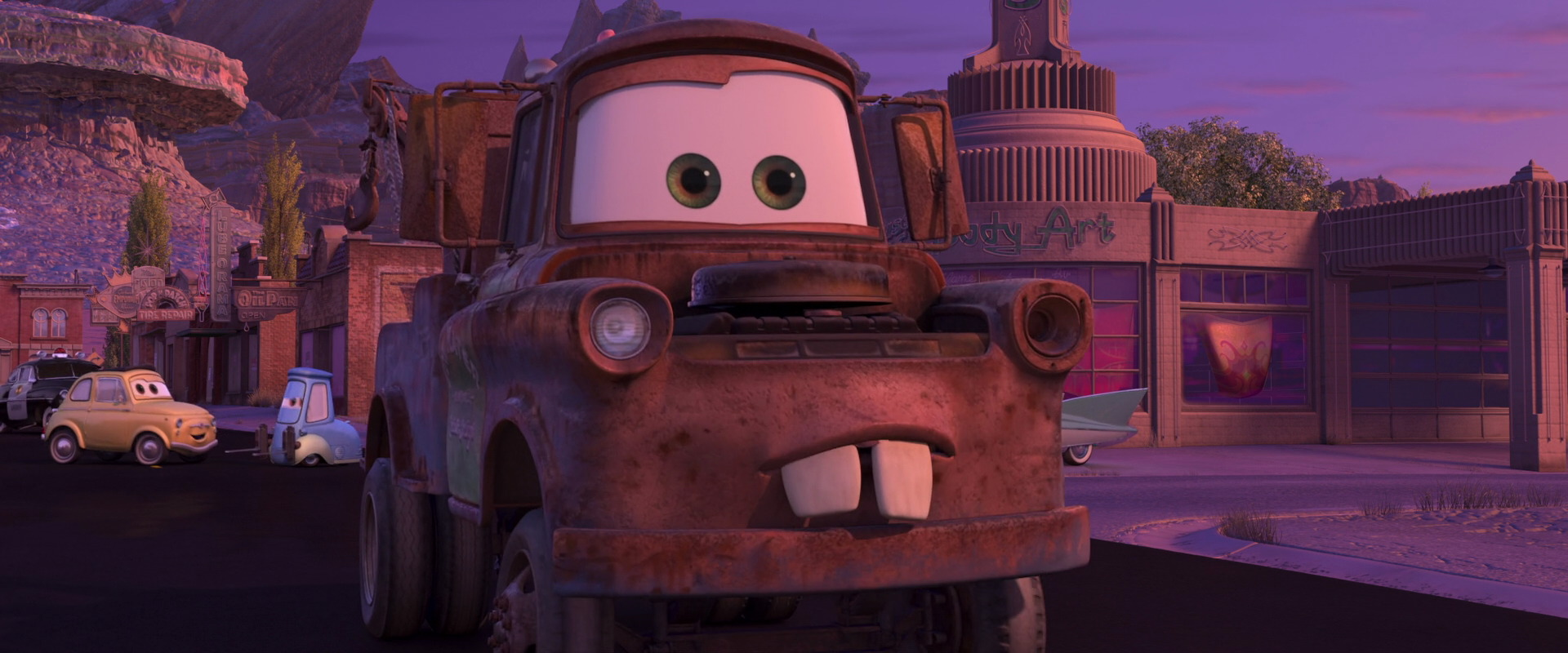 """Tow N Go >> Mater, character from """"Cars"""".   Pixar-Planet.Fr"""