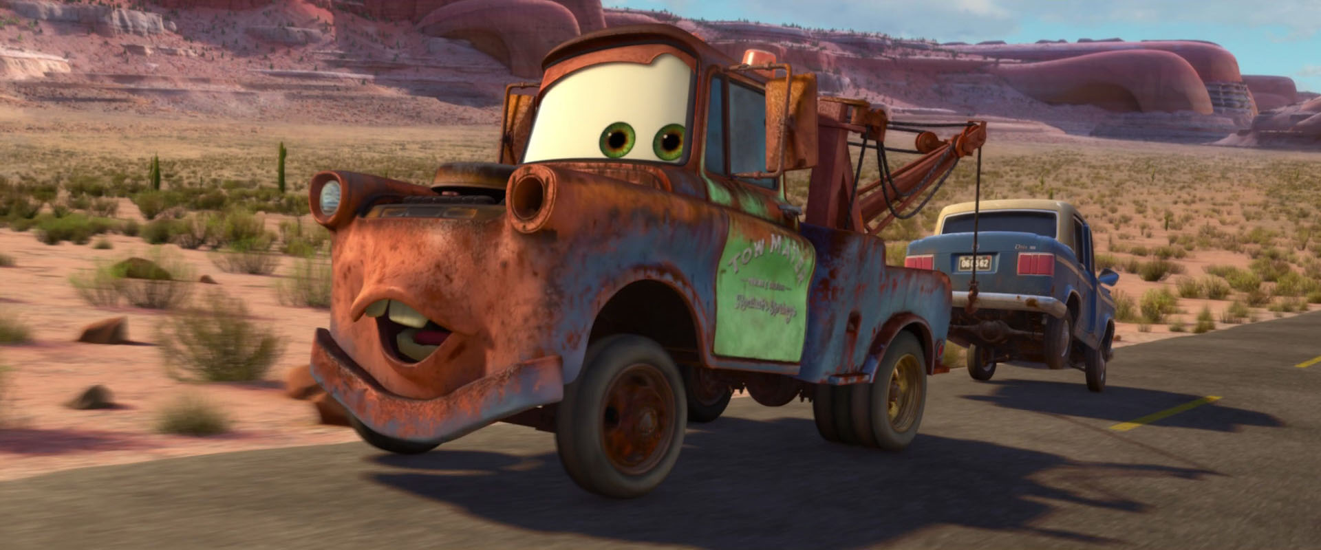 Mater character from cars pixar planet fr - Cars la coupe internationale de martin ...