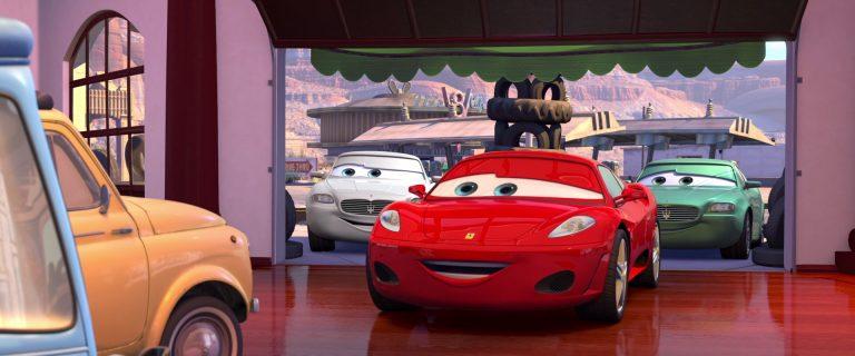 """Michael Schumacher, personnage dans """"Cars""""."""