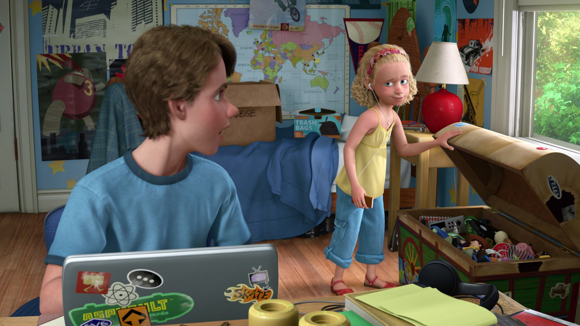 """Disney Pixar Monsters University 3 Piece Room In A Box: Molly Davis, Character From """"Toy Story""""."""