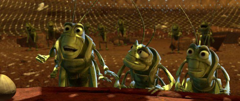 """Momo et Fada, personnages dans """"1001 pattes""""."""
