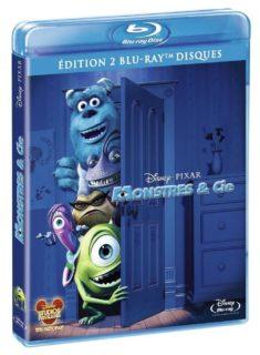 monstres cie blu ray jaquette disney pixar