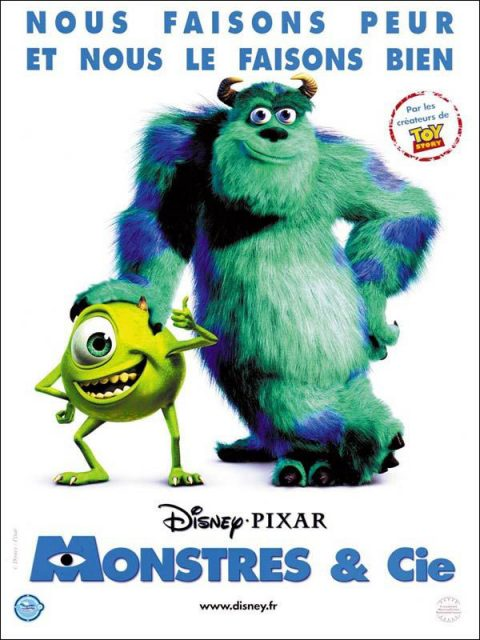 affiche poster monstres cie monster inc disney pixar