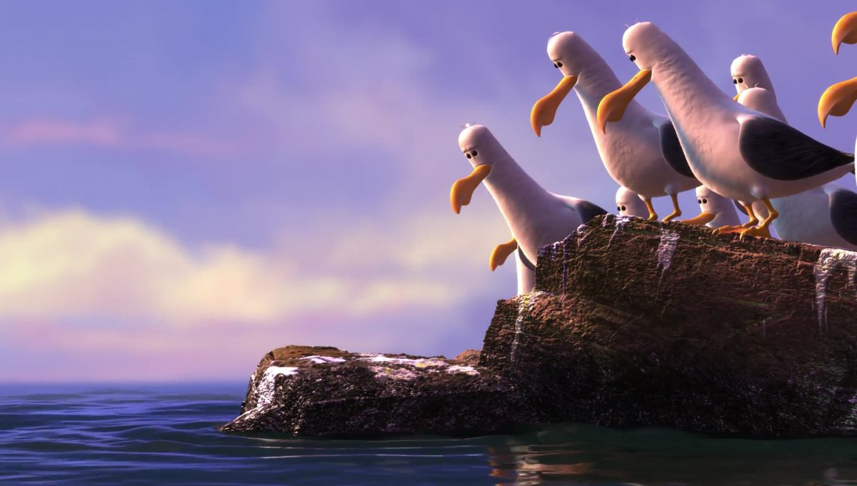 mouette seagull personnage character monde nemo finding dory disney pixar