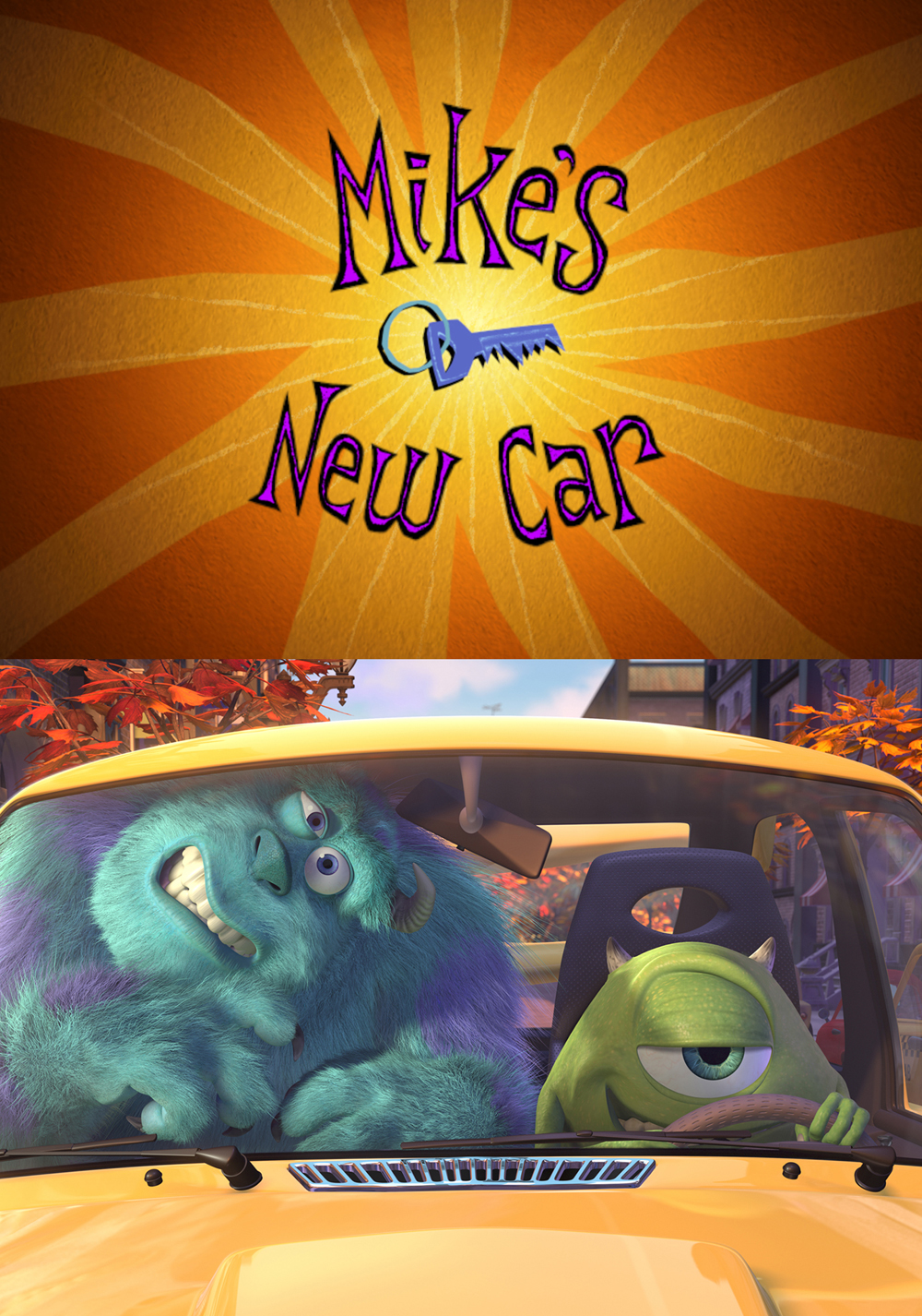 pixar disney la nouvelle voiture de bob mike new car affiche poster