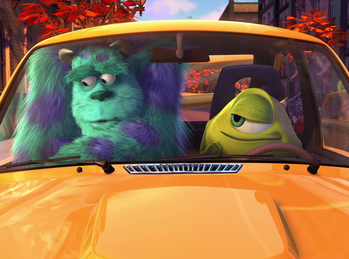 pixar disney la nouvelle voiture de bob mike new car