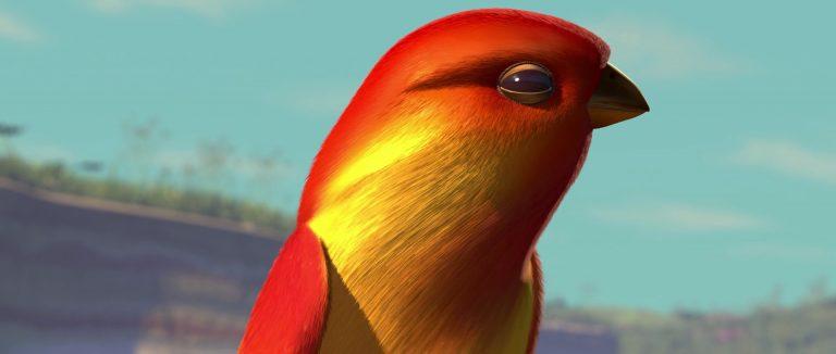 """Oiseau, personnage dans """"1001 pattes""""."""