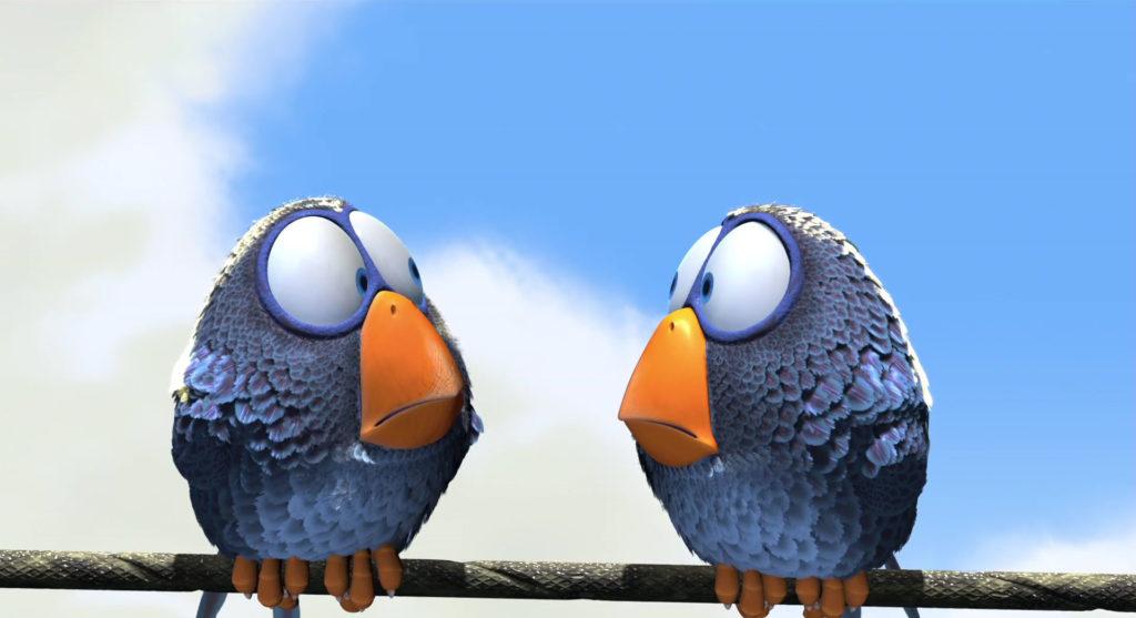 oiseau personnage character pixar disney drole ligne haute tension birds