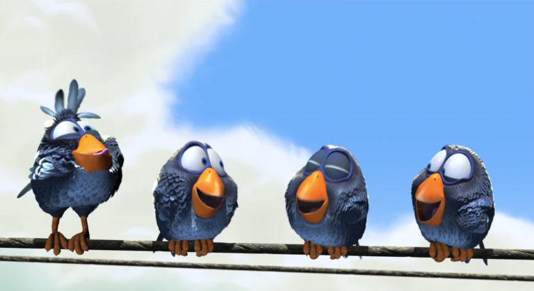 """Chipper, personnage dans """"Drôles d'oiseaux sur une ligne à haute tension""""."""