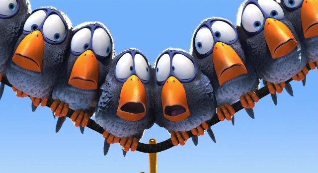 snob neurotic chipper bully oiseau drole ligne haute tension birds personnage character disney pixar