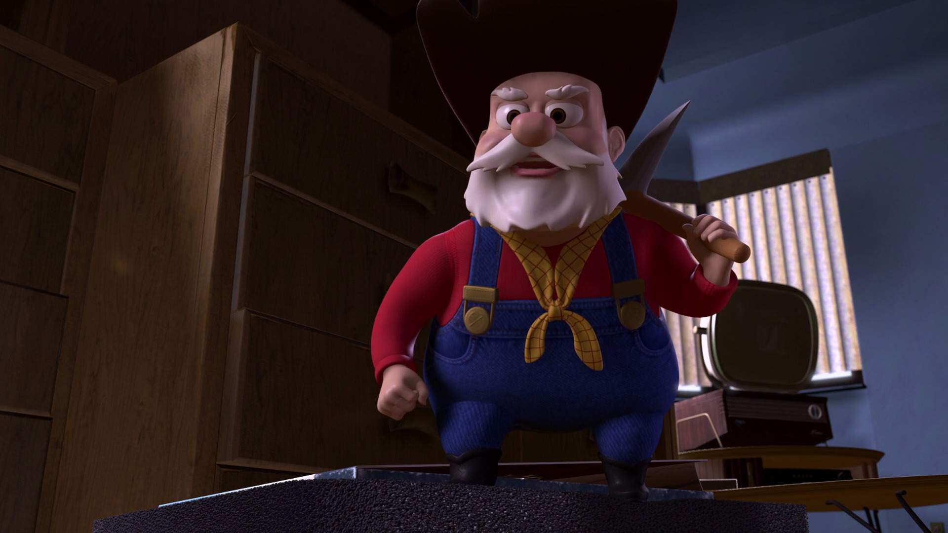 """Disney Pixar Monsters University 3 Piece Room In A Box: Stinky Pete, Character From """"Toy Story 2""""."""