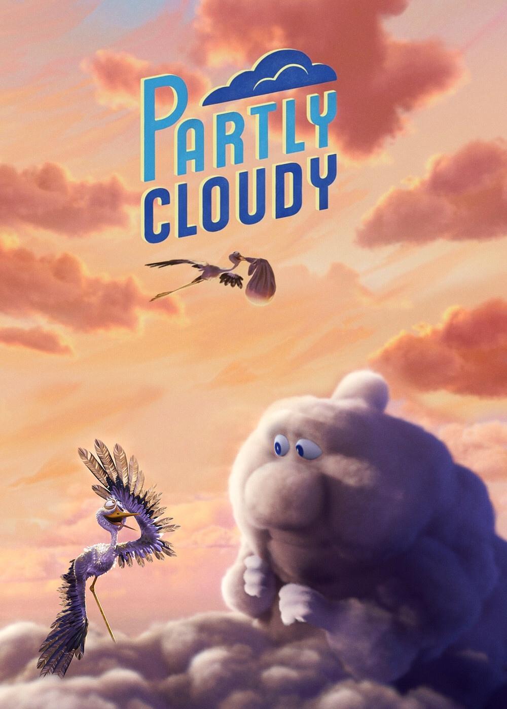 pixar disney affiche poster passages nuageaux partly cloudy