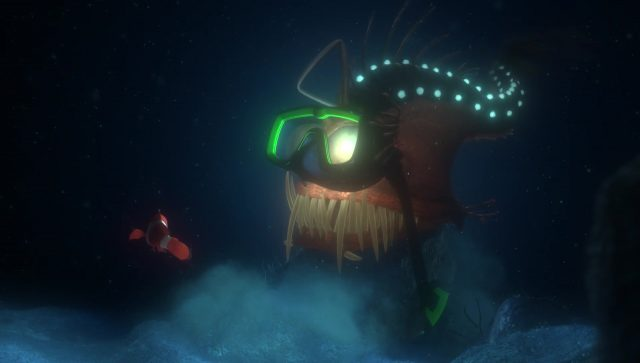 poisson abysse anglerfish personnage character monde nemo finding dory disney pixar