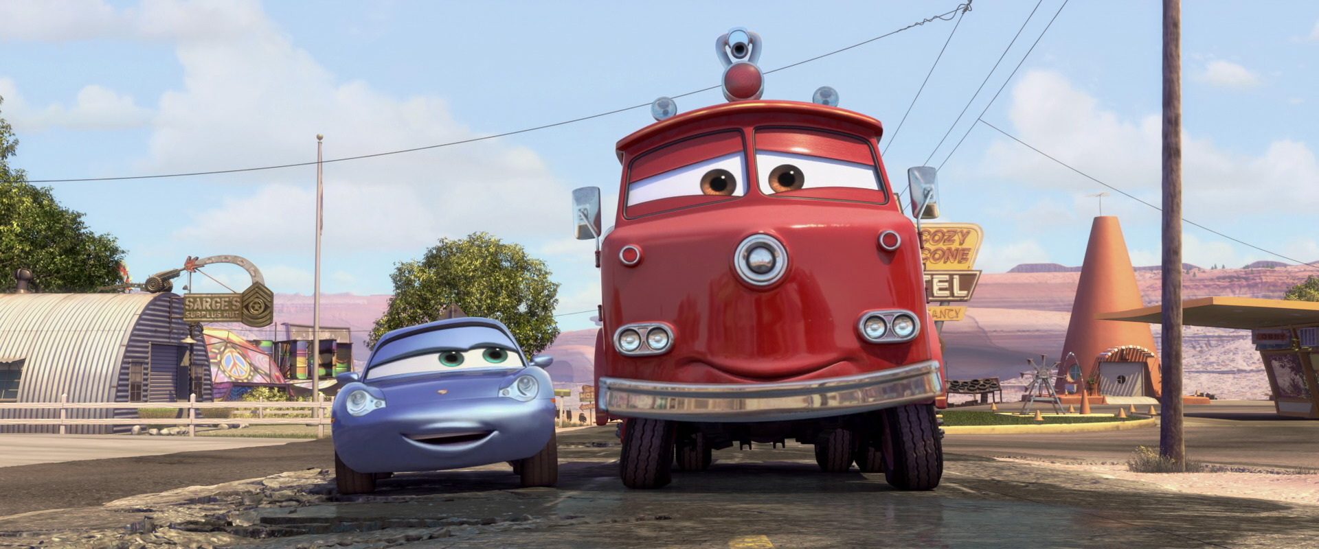 red character from �cars� pixarplanetfr