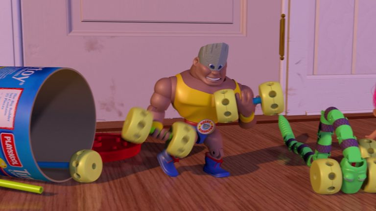 """Rocky Gibraltar, personnage dans """"Toy Story""""."""