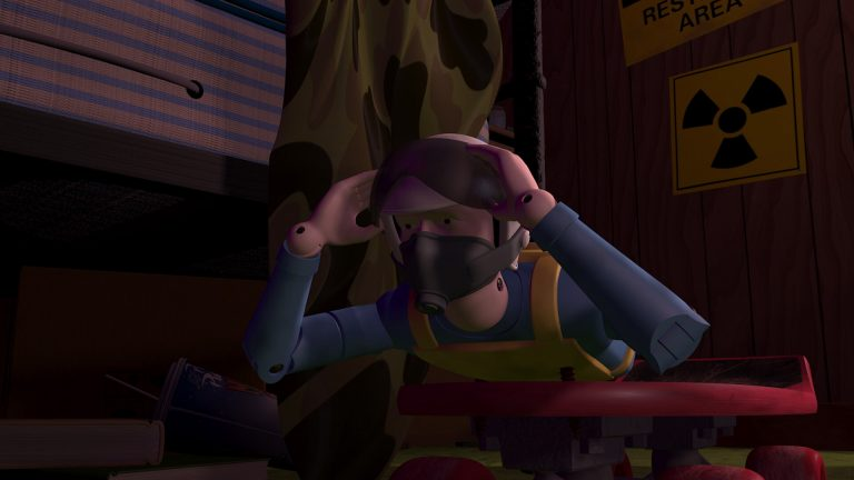 """Roller Bob, personnage dans """"Toy Story""""."""