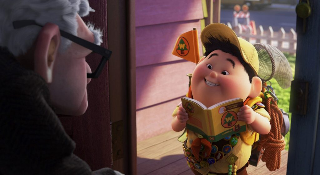 russell la-haut up Pixar Disney