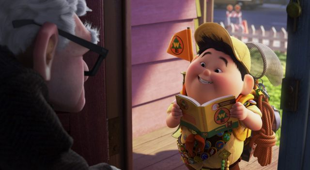 russell personnage character là-haut up disney pixar