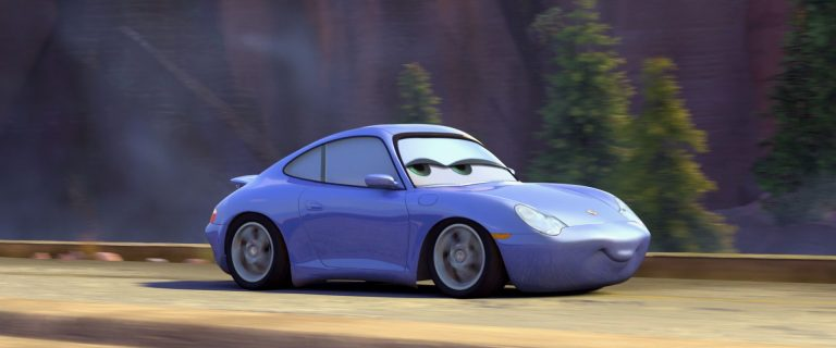 """Sally Carrera, personnage dans """"Cars""""."""