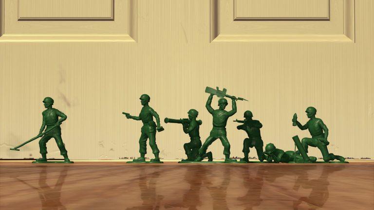 """Sergent et les soldats verts, personnages dans """"Toy Story""""."""