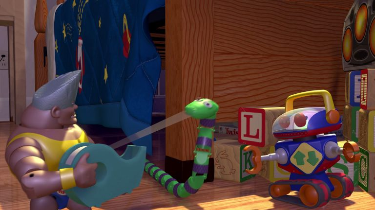 """Serpent, personnage dans """"Toy Story""""."""