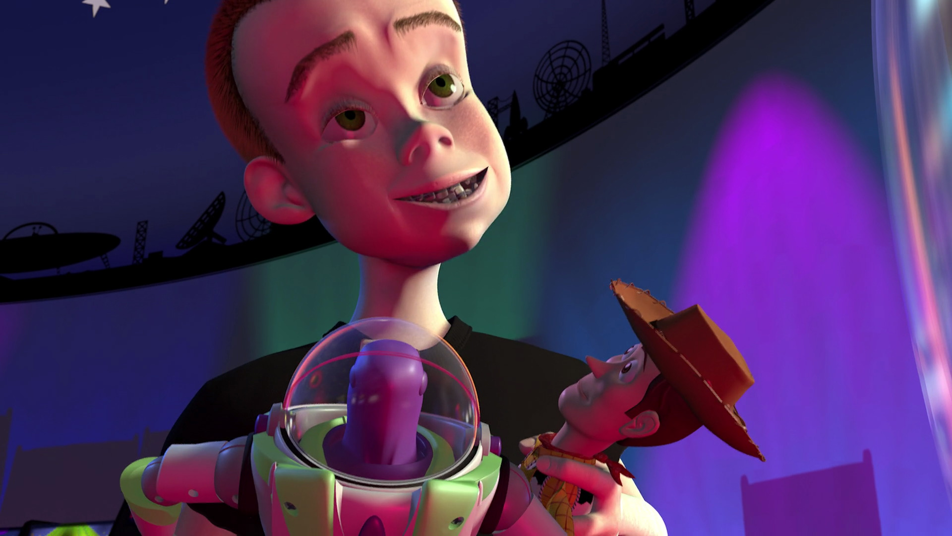 """Sid Phillips, character from """"Toy Story"""". 