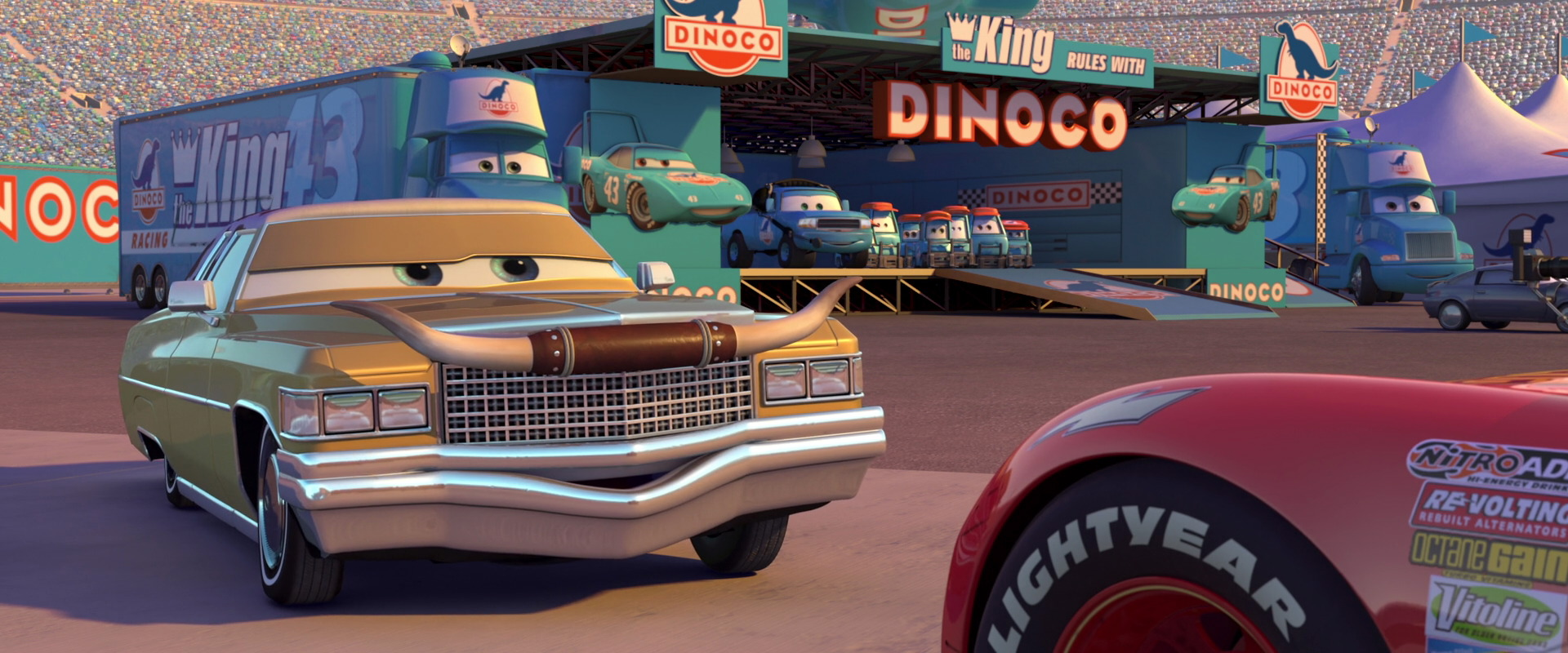 tex dinoco personnage character pixar disney cars