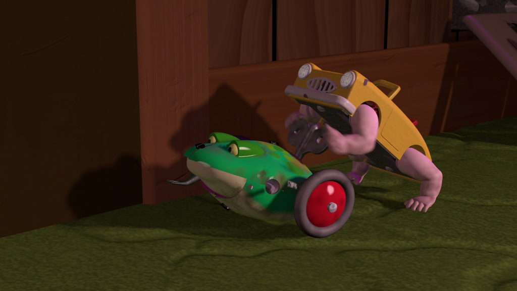 voiture balai walking car toy story disney pixar personnage character