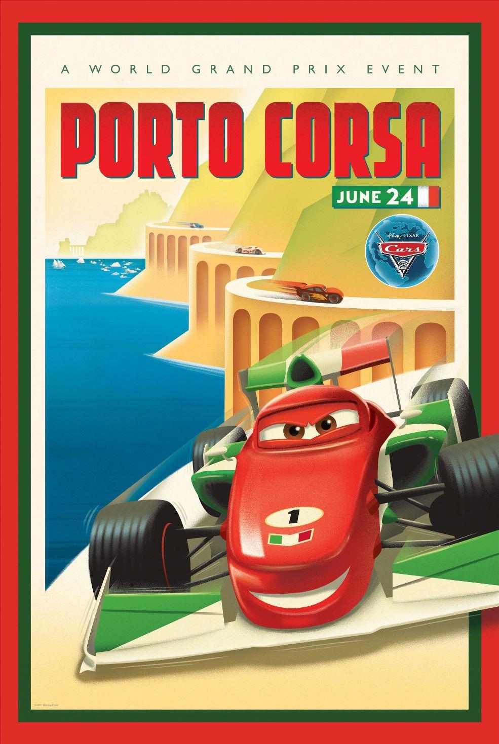 affiche poster cars 2 disney pixar