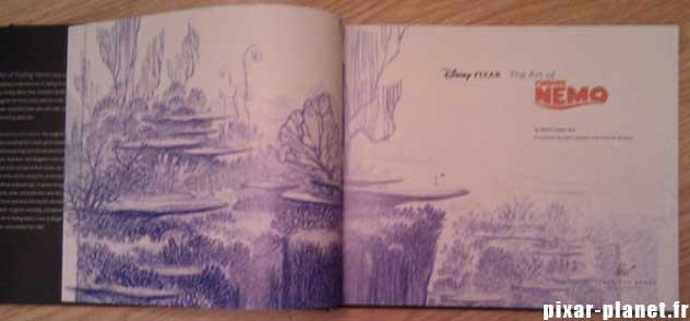 art of finding nemo Livre Disney Pixar Book