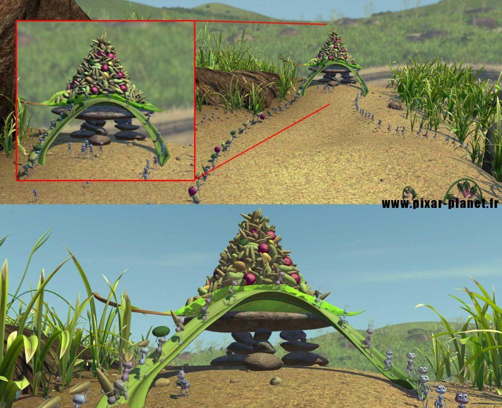 Pixar Disney erreur 1001 pattes goof bug life