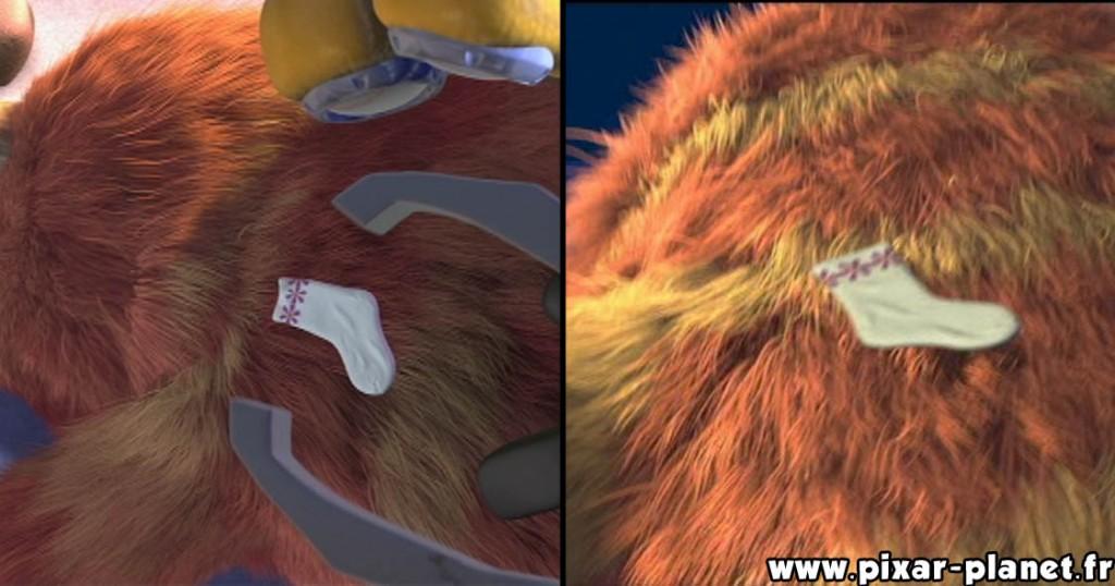 Pixar Disney erreur monstres cie goof monsters inc
