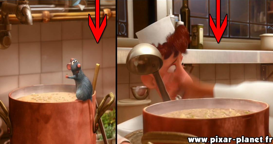 Pixar Disney erreur ratatouille goof