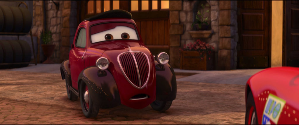 oncle topolino  personnage character pixar disney cars 2