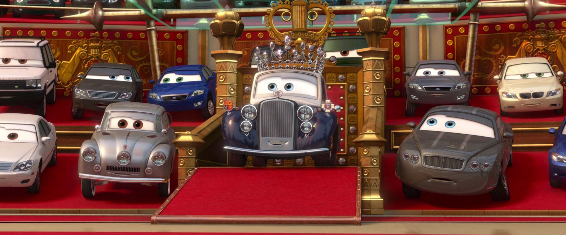 la reine personnage dans cars 2 pixar planet fr. Black Bedroom Furniture Sets. Home Design Ideas