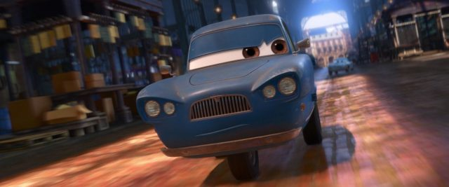 tomber personnage character cars disney pixar