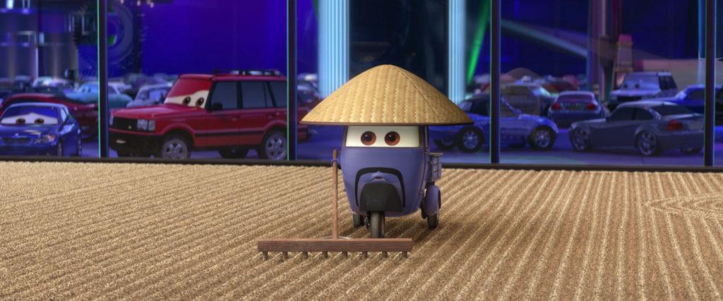 zen master   personnage character pixar disney cars 2