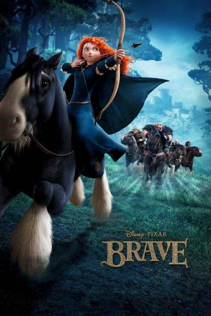 affiche poster rebelle brave disney pixar