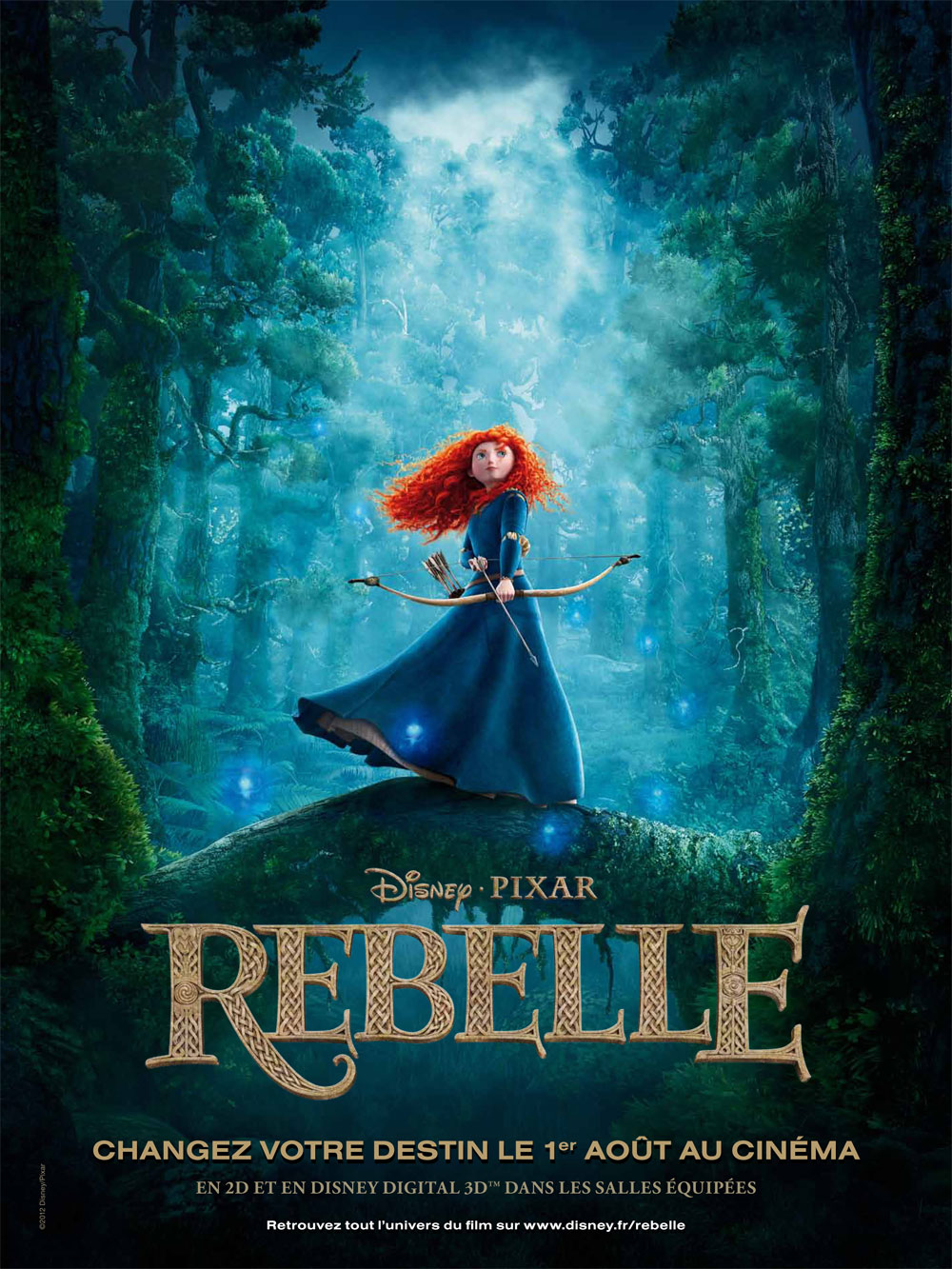 rebelle pixar disney affiche brave