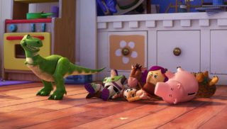 dolly personnage character pixar disney toy story toons rex fete roi partysaurus