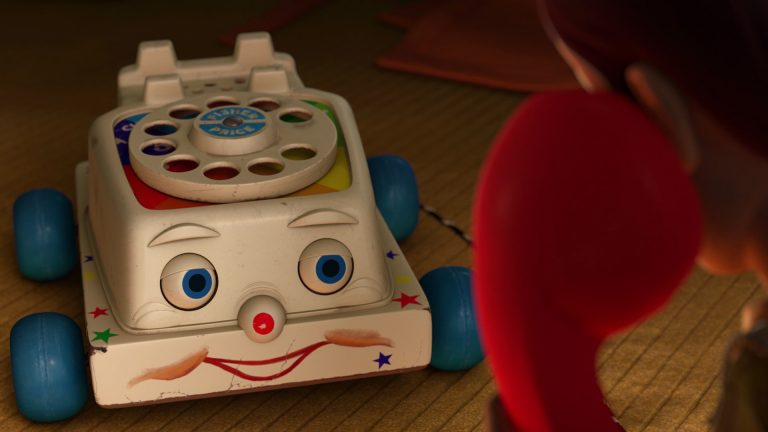 "Téléphone Fisher-Price, personnage dans ""Toy Story 3""."
