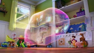 la brosse prickleplants   personnage character pixar disney toy story toons rex fete roi partysaurus