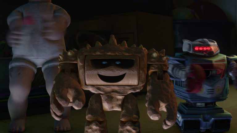 "Tchac, personnage dans ""Toy Story 3""."