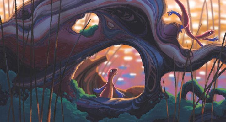 artwork newt disney pixar